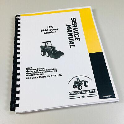 Service Manual For John Deere 125 Skid Steer Loader Repair Technical Shop Book