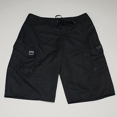 Quiksilver Men's Black 100% Polyester Logo Pocket Surf Swim Board Shorts Size 30