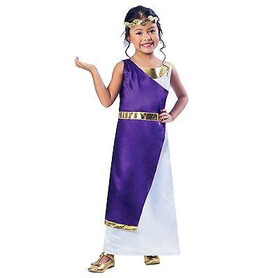 Girls Roman Fancy Dress Greek Grecian Goddess Book Week Kids Childrens Costume