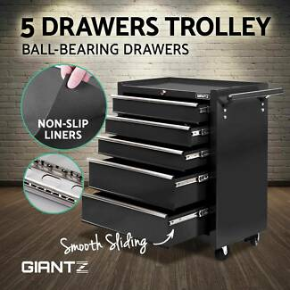 5 Drawers Mechanic Tool Box Storage Chest Cabinet Trolley Roller