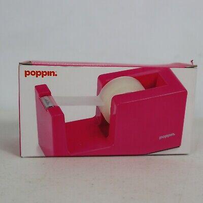Poppin Desktop Pink Dispenser 34 Inch Tape Cool Modern Tape Dispenser