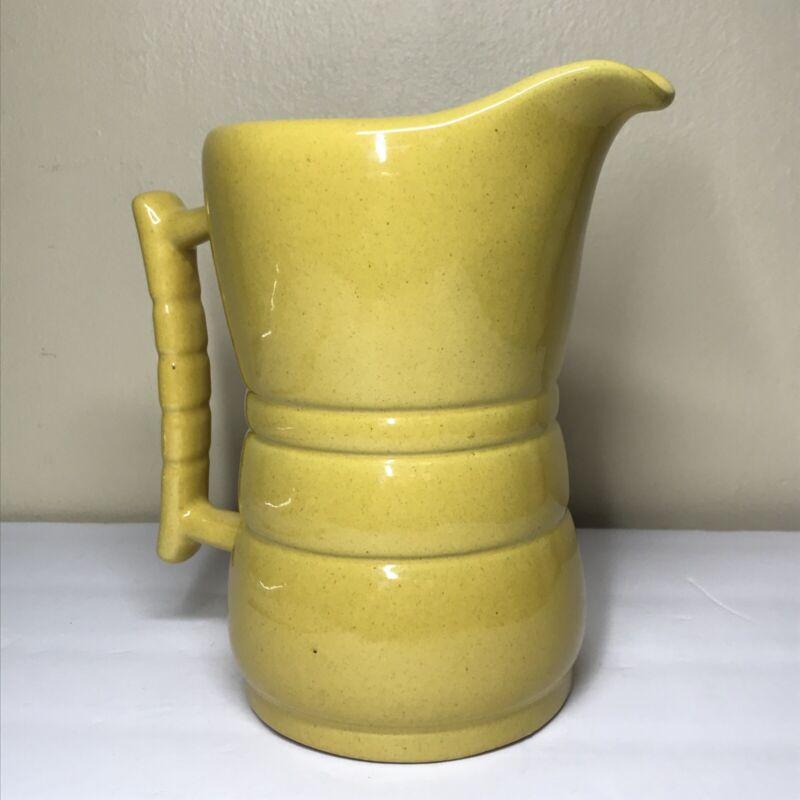 "FRANKOMA pottery WESTWIND AUTUMN YELLOW ~ # 260 One Quart Pitcher ~ 7 1/2"" tall"