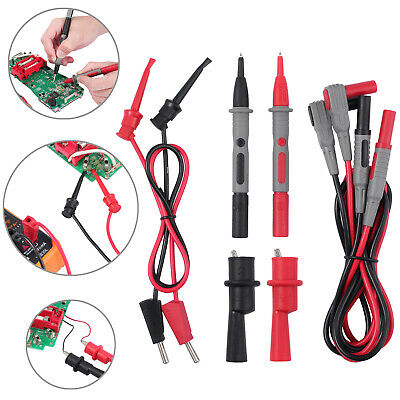 Electrical Multimeter Test Lead Kit Walligator Clips Crocodile Probes Kits