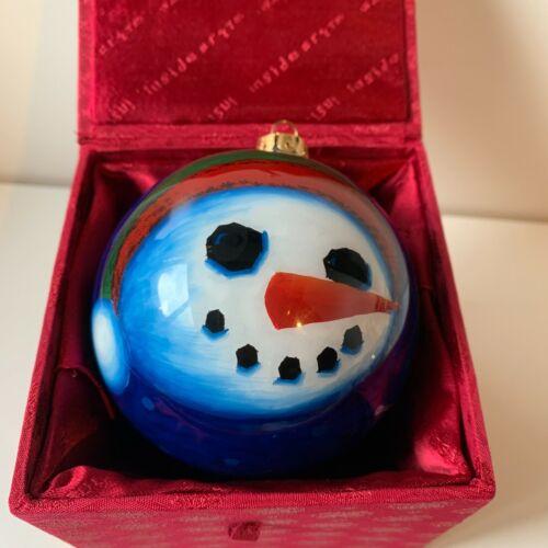 """Zulauf Christmas Snowman Ornament 4"""""""