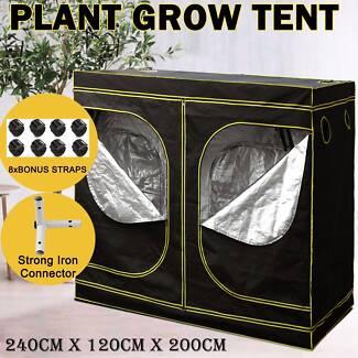 2.4x1.2x2m Hydroponic Grow Tent Oxford Indoor Plant Grow Room