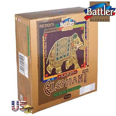 Ceylon Pure Black Battler Tea Kandy Elephant 100 tea Bags 200 g From Sri (Ceylon Kandy Black Tea)