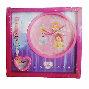 Disney Princess 3 Pc Timepiece Gift Set Includes Wall Clock,Watch & Alarm Clock