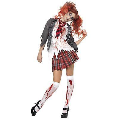 Halloween Lycée Fille Étudiant non Mort Zombie Déguisement pour Femmes - Non Halloween Costumes