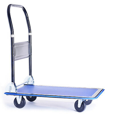 Heavy Duty 150kg Folding Platform Trolley Hand Truck Cart Sack Flat Bed Pulley