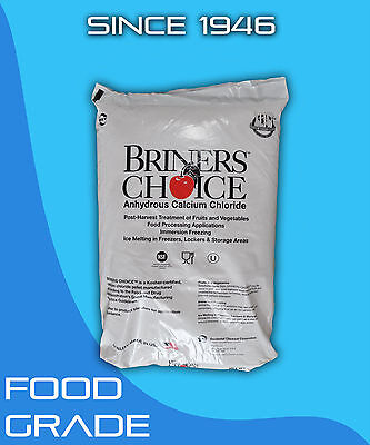 Calcium Chloride Anhydrous 5 Lb Food Grade Kosher High Purity Granular Clear Bag