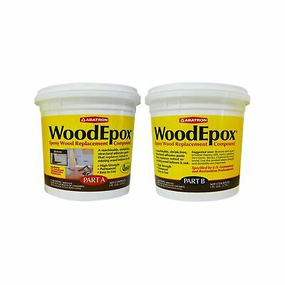 Abatron Woodepox 2 Gallon Kit 2-part Structural Epoxy Wood Replacement Compo...