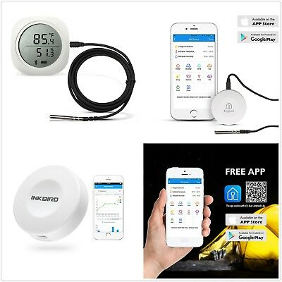 Bluetooth App Digital Data Logger Temperature Humidity Recorder Monitor Grow Lcd