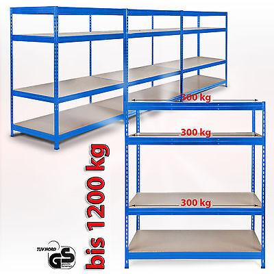 160x150x60cm Weitspannregal Schwerlastregal Steckregal Lagerregal 300kg je Boden