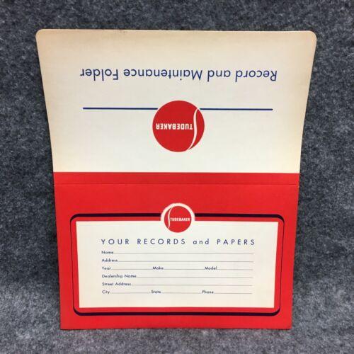 VTG 1940s-1950s Era Studebaker Dealer Records & Papers Glove Box Folder Envelope
