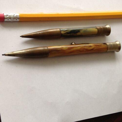 2 Antique Chatelain  MECHANICAL Pencil PENDANT //  PENCIL Clip // around 1900