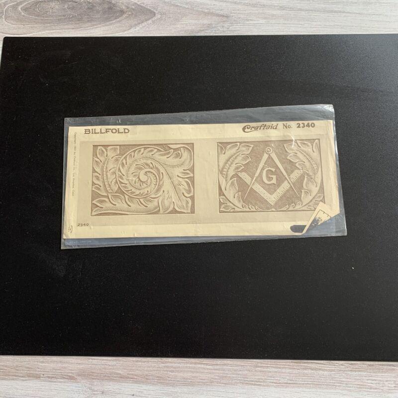 Vintage Leather Billfold Craftaid (Masonic). 2340