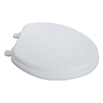 Essential Home Toilet Seat Soft Elongated Soft White - For Sale