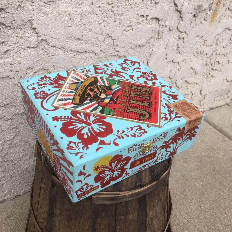 Island Jim #2 San Andres Empty Wooden Cigar Box