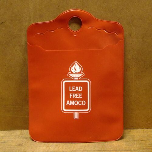 NOS 1970s VINYL LITTER BAG from AMOCO GAS STATION - Lead Free Amoco
