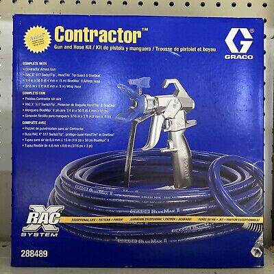 New Graco Contractor Gun And Hose Kit 288489 In Box Free Shipping