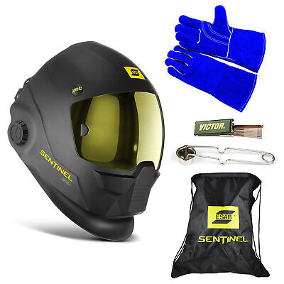 Esab Sentinel A50 Automatic Helmet Bag Welding Glove Striker Tip Cleaner
