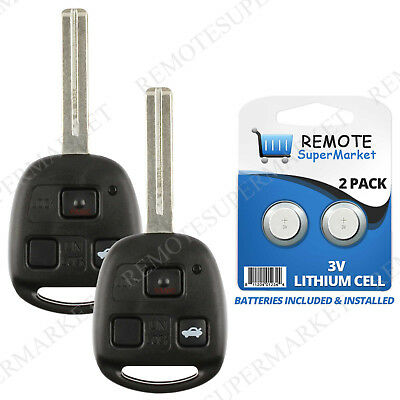 2 Replacement for Lexus 2001-2006 LS430 2002-2010 SC430 Remote Entry Car Key Fob
