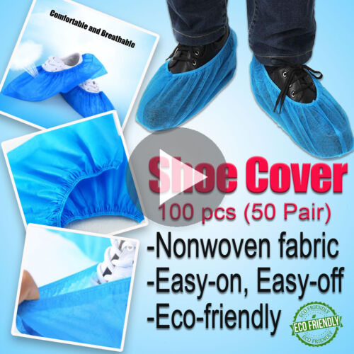 100Pcs Non-woven Shoes Cover Disposable Anti-Slip Indoor Outdoor Dustproof