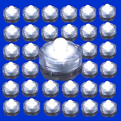 Submersible Waterproof Battery LED Tea Light ~ Wedding Decoration~WHITE~ 36 Pack