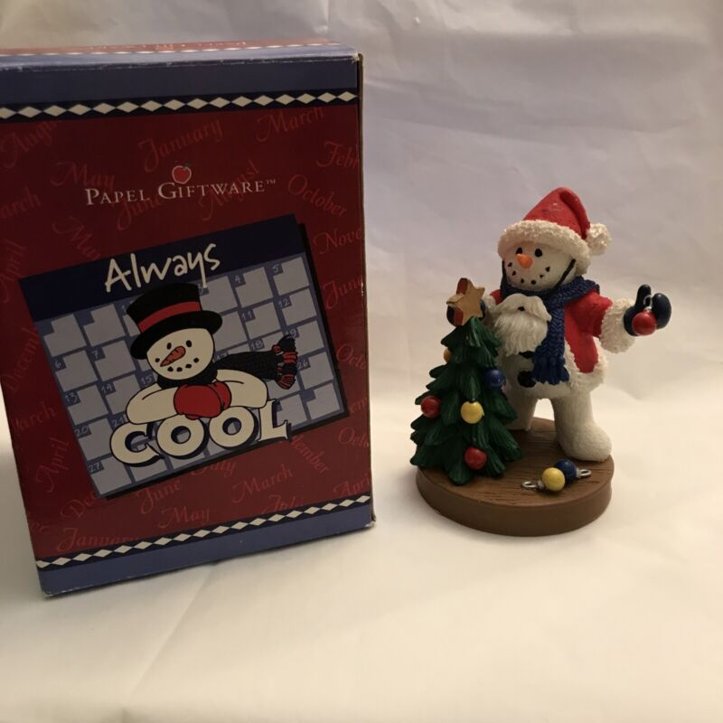Always Cool Deck the Halls Papel Giftware Snowman