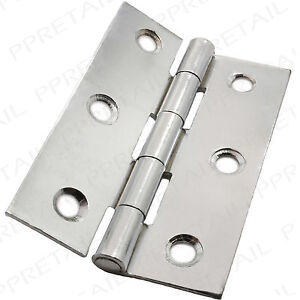 bulk cabinet hardware 10 pairs of quality polished chrome hinges 75mm 3 12679