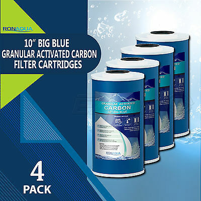 "10"" Big Blue (GAC) Replacement Water Filters (4 Pcs) 4.5"" x 10"" Cartridges"