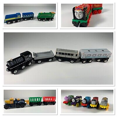 Thomas the Train Lot of 24 Wooden Engines and Cars And Cargo Used Condition