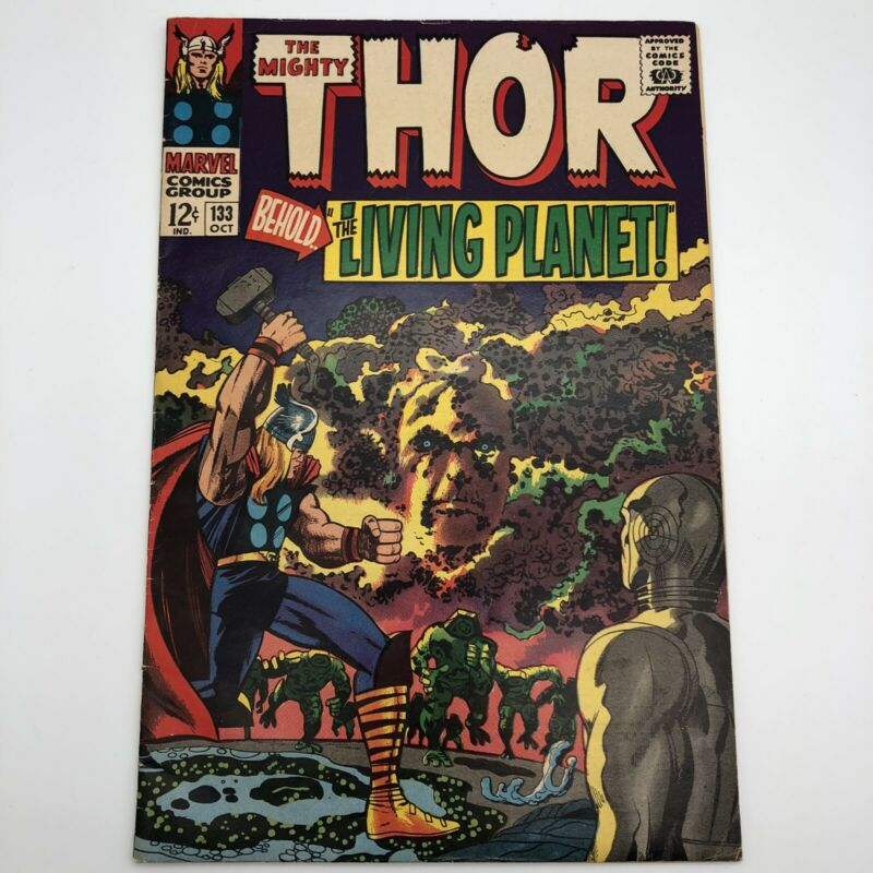 Thor #133 1966 Marvel Silver Age 1st Appearance Ego the Living Planet 7.0 FN/VF