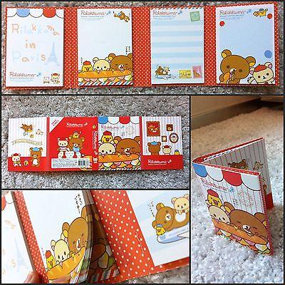 San-x Rilakkuma Bear Post-it 4 Fold Sticky Memo Paper Pad Stickers Notes Red