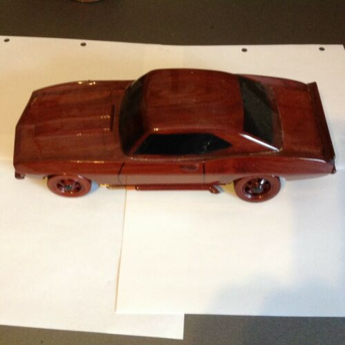 Vintage Camaro  Car Hard Wood Hand Carved Decor