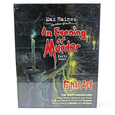 AN EVENING OF MURDER The Final Act HALLOWEEN PARTY GAME Role Play NEW Sealed ](Finale Halloween Party)
