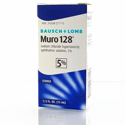 Bausch + Lomb Muro 128 Solution 5%, 1/2 fl oz /15ml eye drop