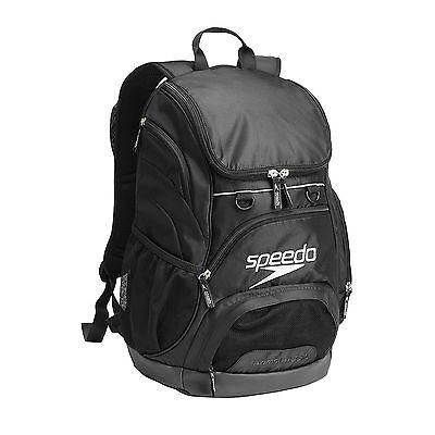 NEW SPEEDO TEAMSTER BACKPACK 35L - BLACK SWIMMING BAG RUCKSACK GYM KIT  RUCKSACK 65b9ec5140e49