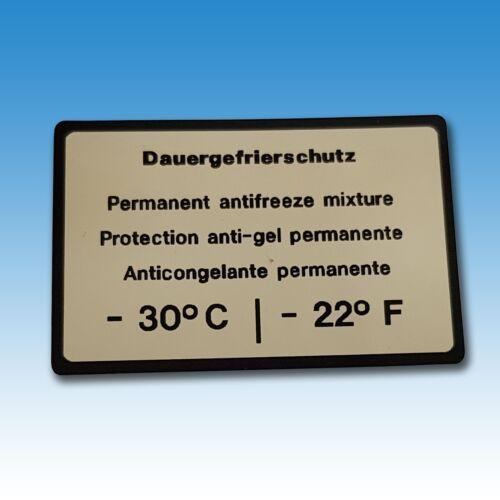 Aufkleber Holder Dauergefrierschutz Holder A 40 A 50 A 60 A 62 A 65 015360 Foto 1