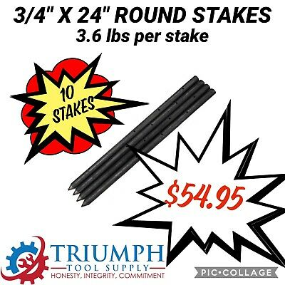 10stks34 X 24 Round Stakes For Concrete