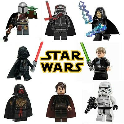 Lego Star Wars Mini Figures Custom Building Jedi Darth Vader Yoda Skywalker Sith