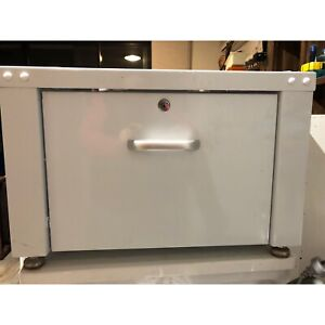 Front Load Washer Stand - Lockable Metal Drawer