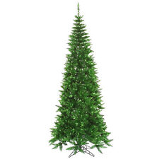 "7.5' ft x 40"" Tinsel Green Slim Artificial Holiday ..."