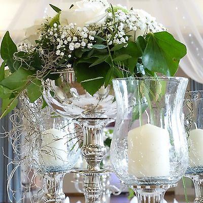 Blumenschale silbern für Blumenschmuck im Kerzenleuchter Kerzenständer Hochzeit