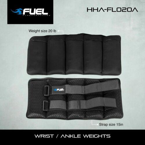 Fuel Pureformance Adjustable Wrist/Ankle Weights, 20-Pound Pair
