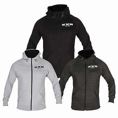 XXR Zipped Fleece Hoodies Top Hooded Sweat Shirt Gym Clothing Running (S-2XL) Fleece Running Sweatshirt