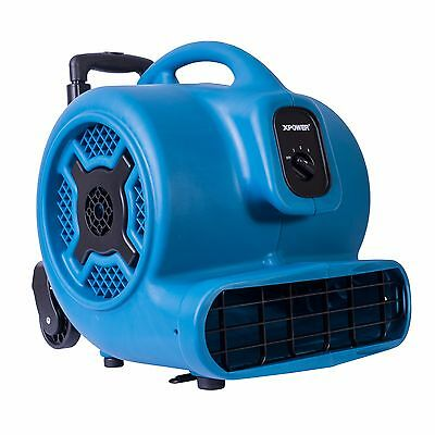 Xpower P-830h 1 Hp 3600 Cfm Air Mover Carpet Dryer Fan Blower W Handle Wheels