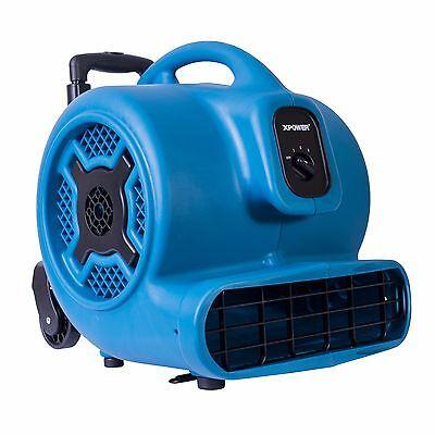 Xpower P-830h 1 Hp 3600 Cfm Air Mover Carpet Dryer Fan Blower W Handle Wheels
