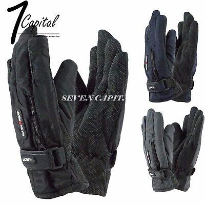 (Mens Winter Thermal Warm Waterproof Ski Snowboarding Driving Work Gloves Mitten)