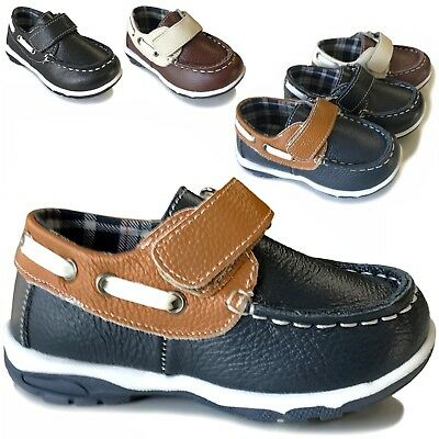 Baby Boys Toddler Leather Boat Shoes Casual Sneaker Loafer Toddler Size 3 to -